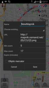 Define tile map screen